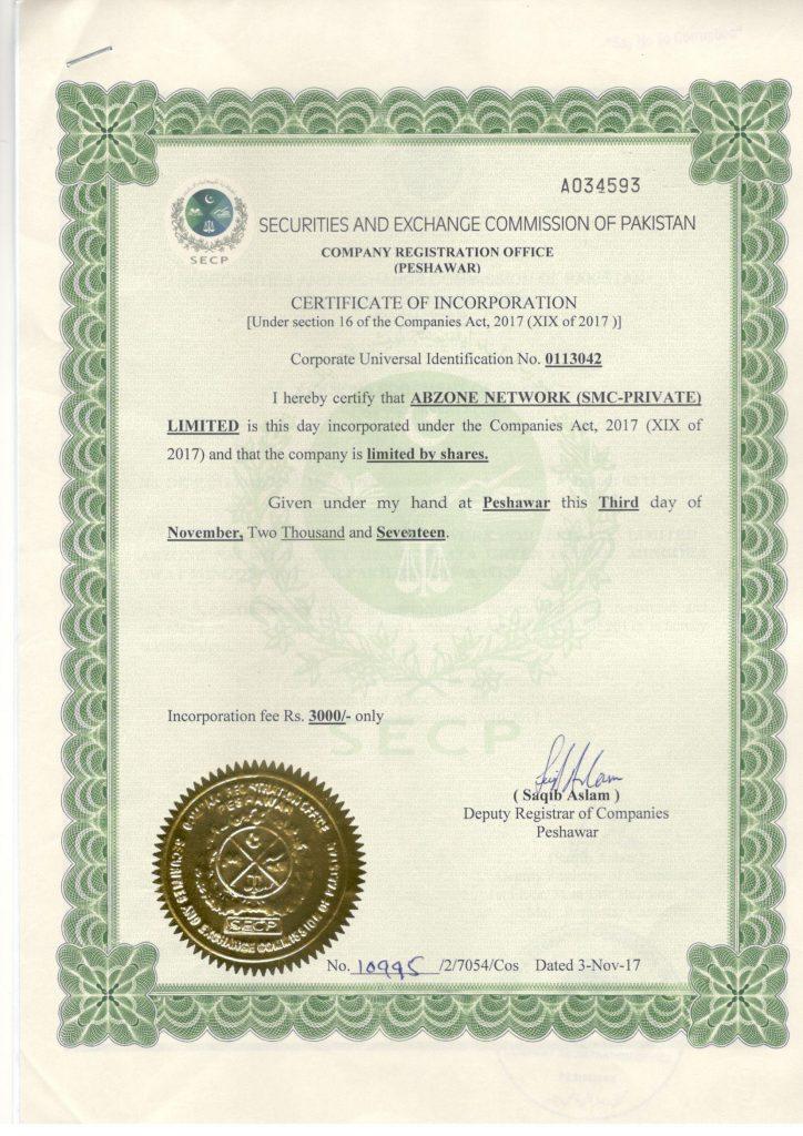 Call Center Registration Certificate