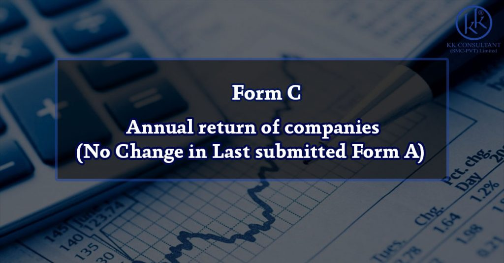 Form C – Annual return of companies (No Change in Last submitted Form A)