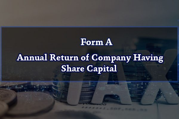 Form A – Annual Return of Company Having Share Capital
